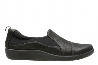 Clarks Womens Sillian Paz Black Shoes